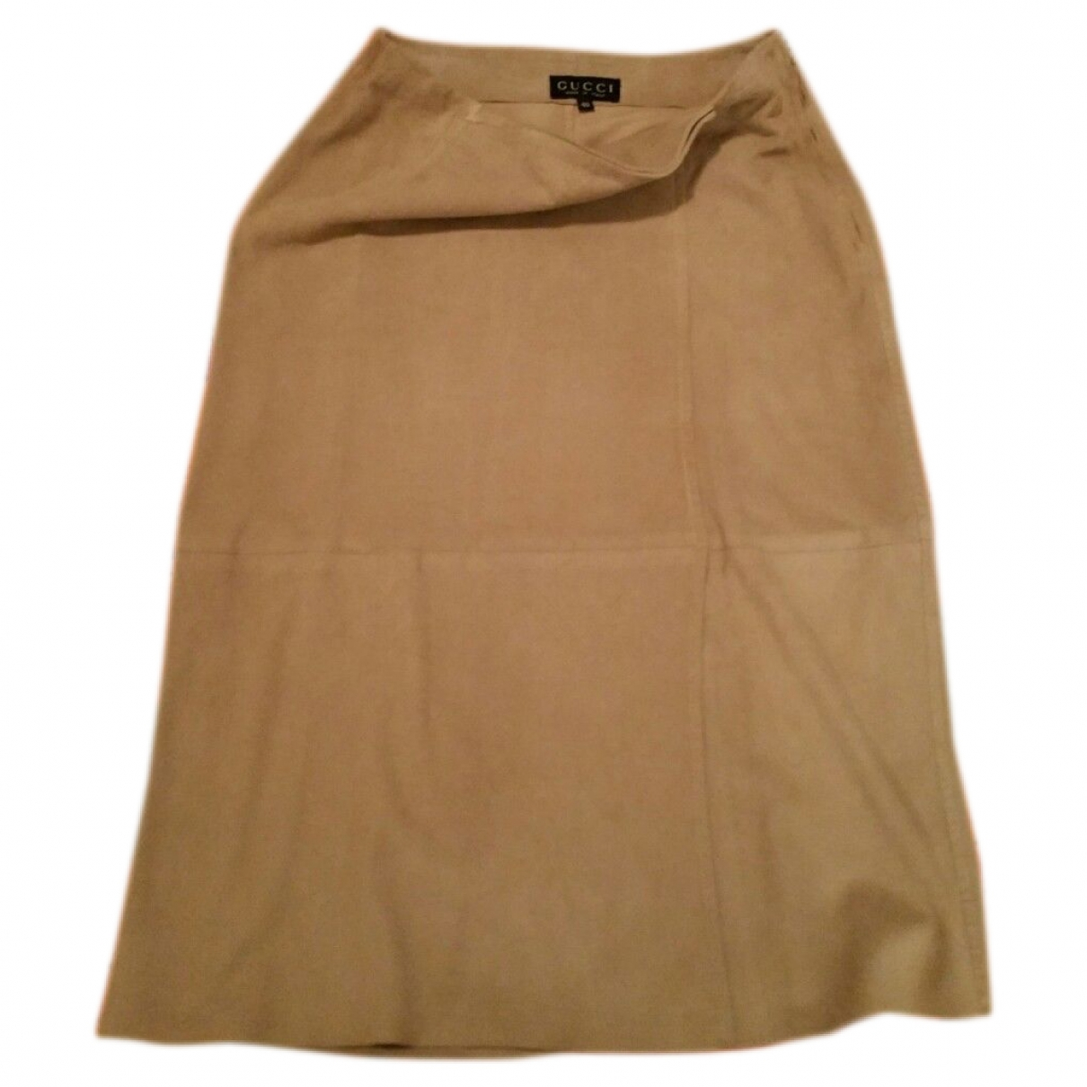 Gucci \N Beige Leather skirt for Women 40 IT