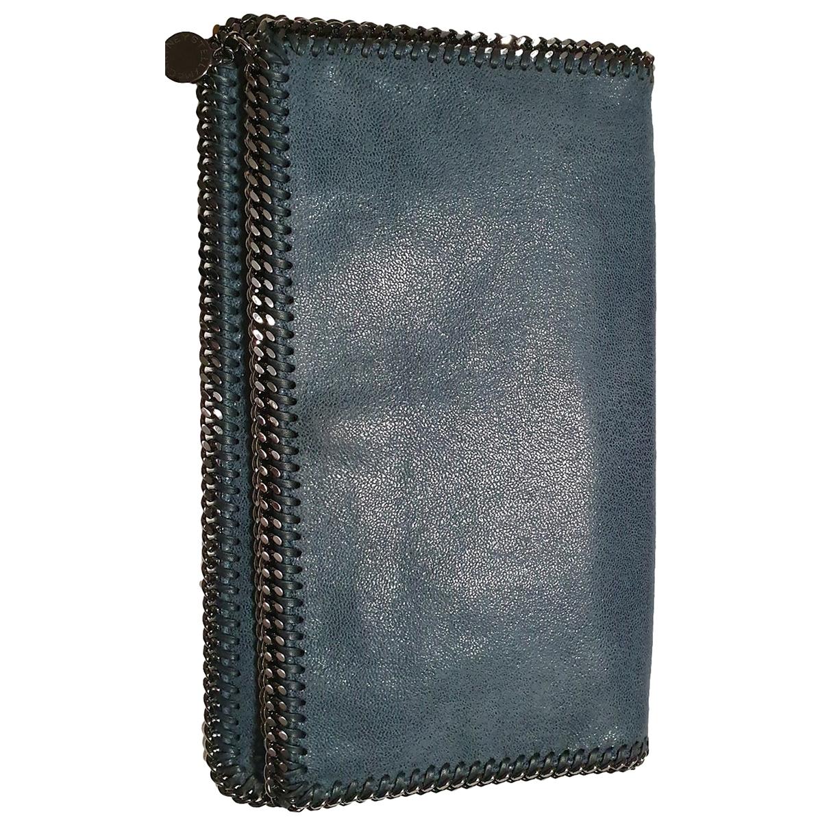 Stella Mccartney Falabella Blue Cloth Clutch bag for Women \N