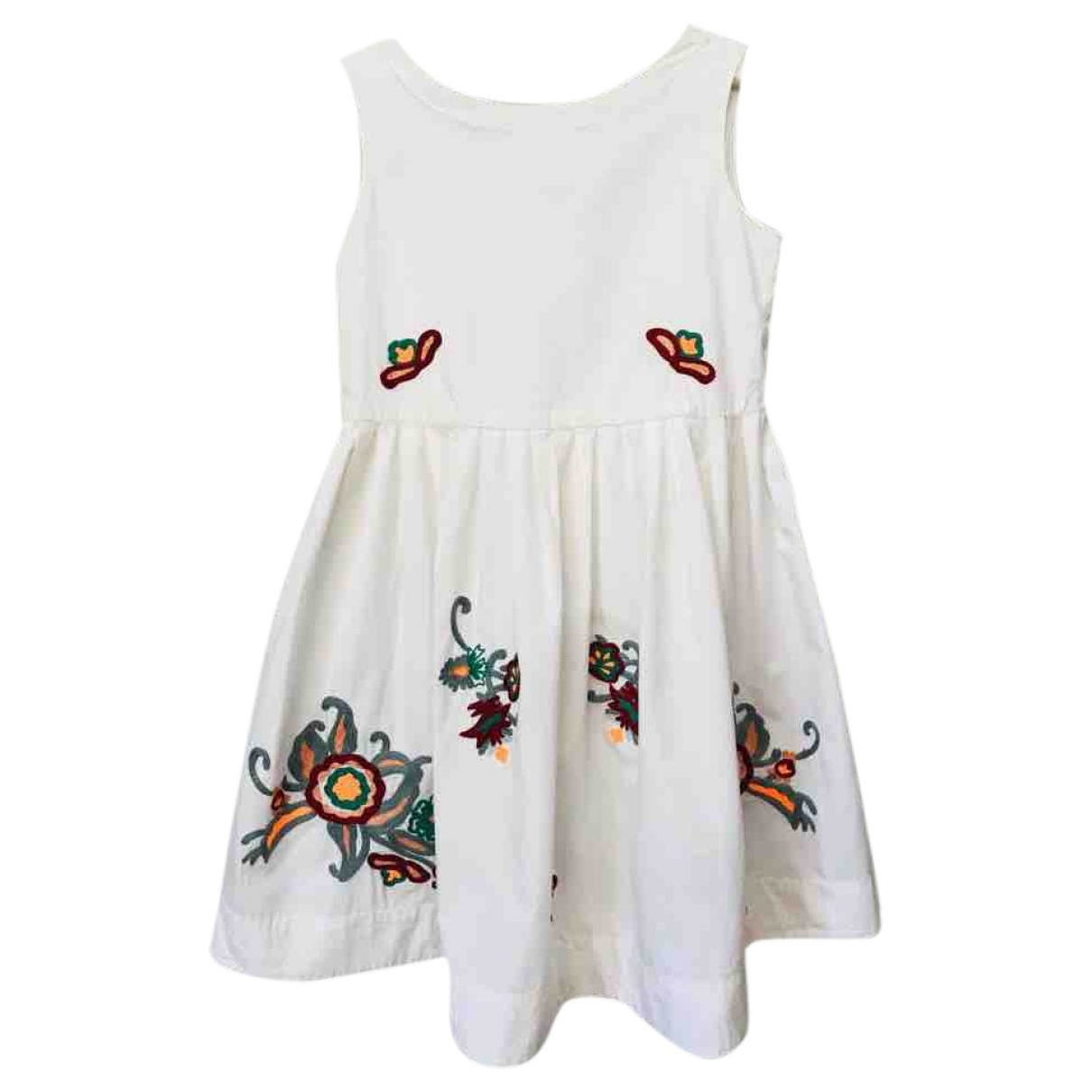 Bonpoint \N White Cotton dress for Kids 8 years - up to 128cm FR