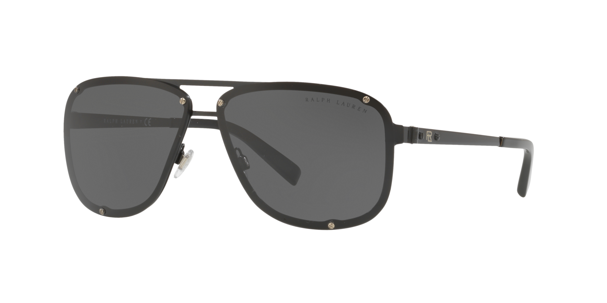 Ralph Lauren Man  RL7055 -  Frame color: Black, Lens color: Grey-Black, Size 64-10/140