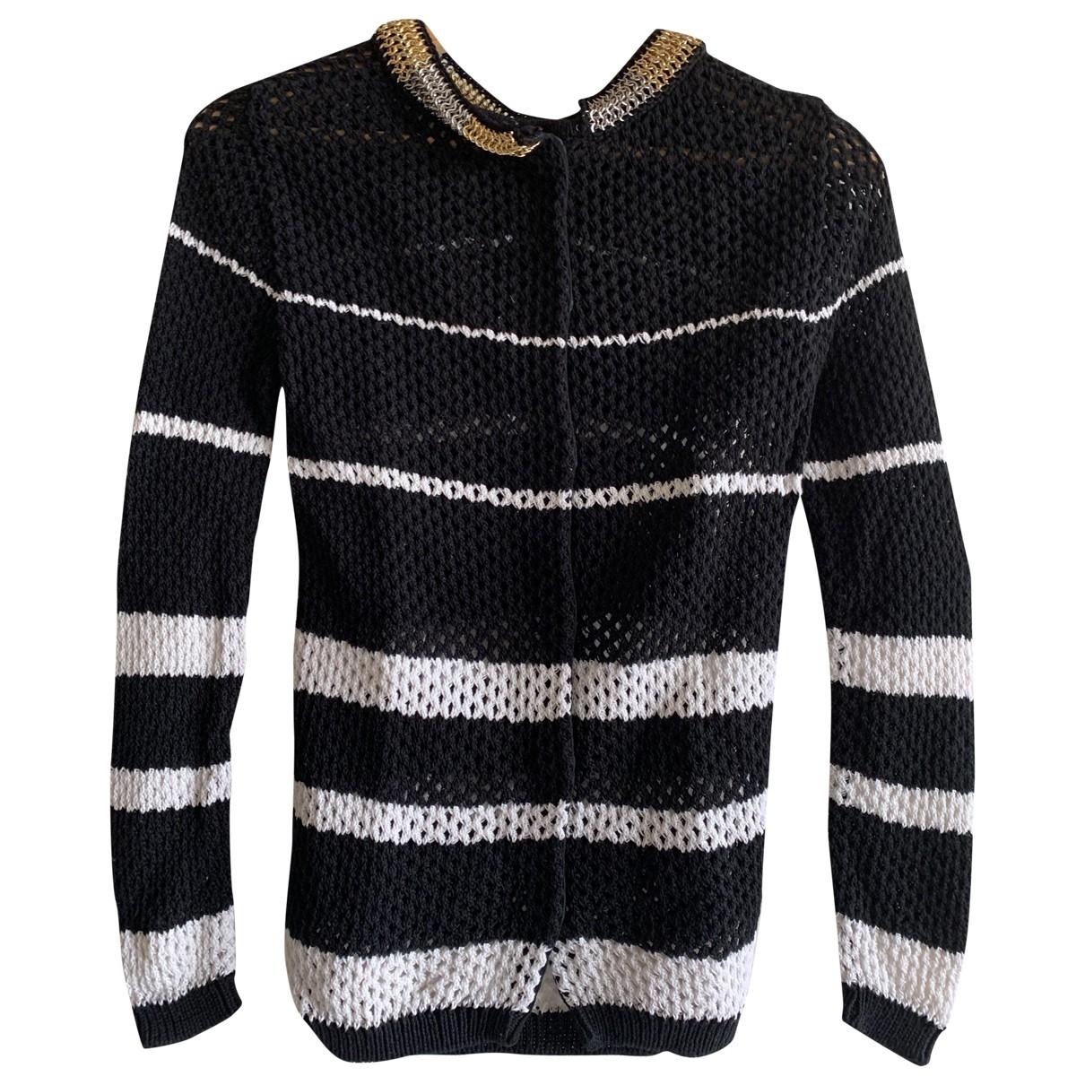 Ermanno Scervino \N Black Cotton Knitwear for Women 38 IT