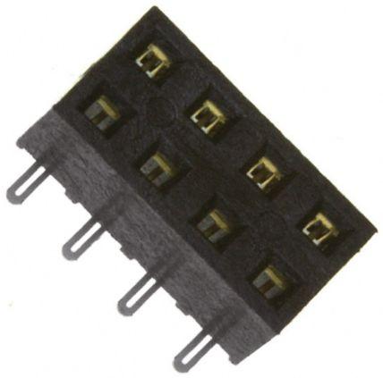 Samtec , SMM 2mm Pitch 8 Way 2 Row Straight PCB Socket, Surface Mount, Solder Termination