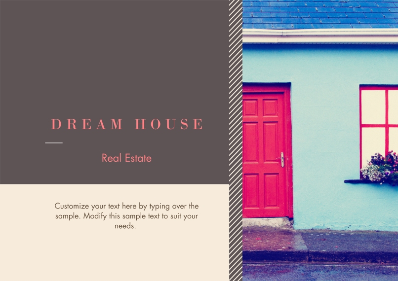 Real Estate Flat Business Greeting Cards, Business Printing -Dream House