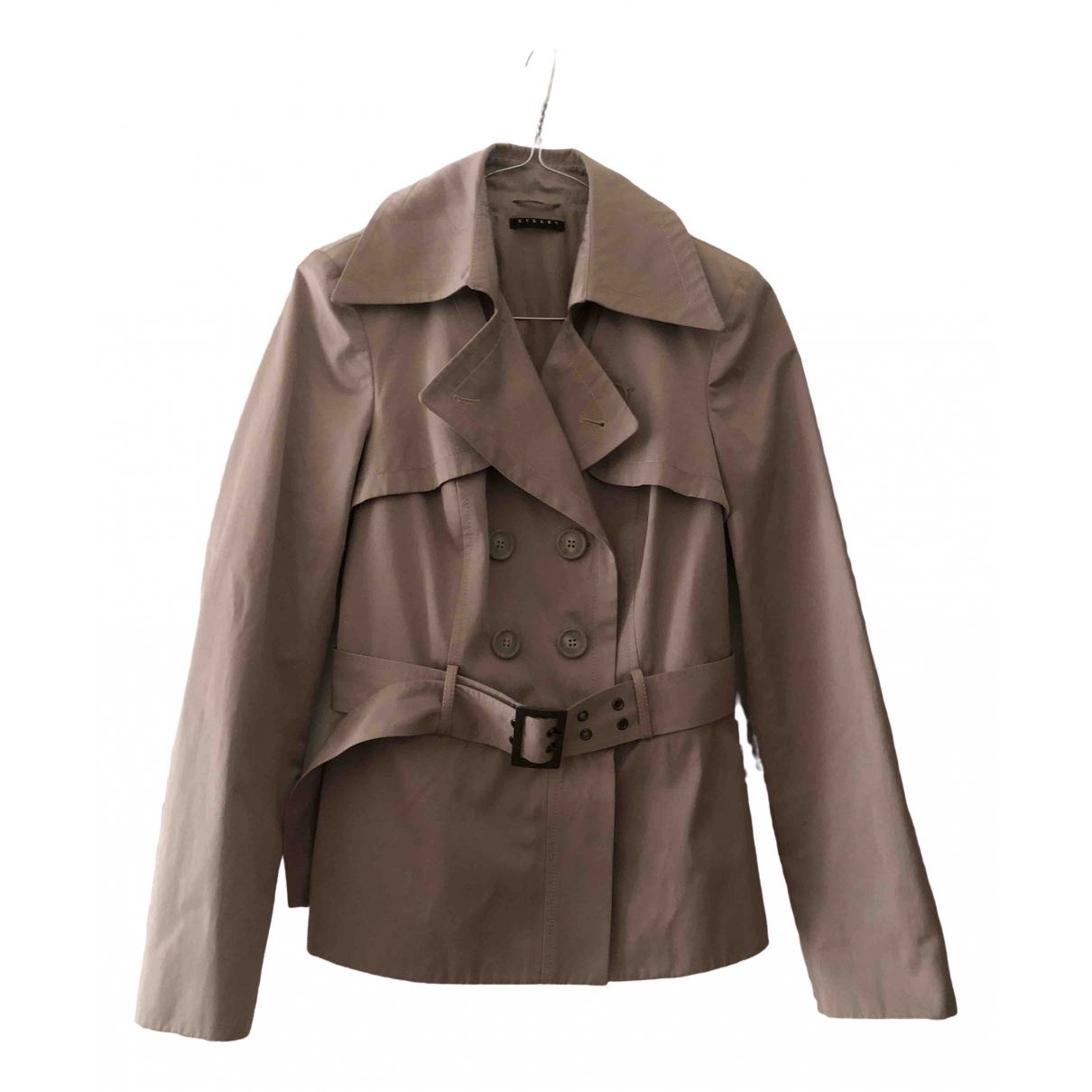 Non Signé / Unsigned Epaulettes Beige Trench coat for Women 42 IT