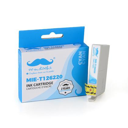 Epson 126 T126220 cartouche d'encre compatible cyan haute capacité - Moustache®