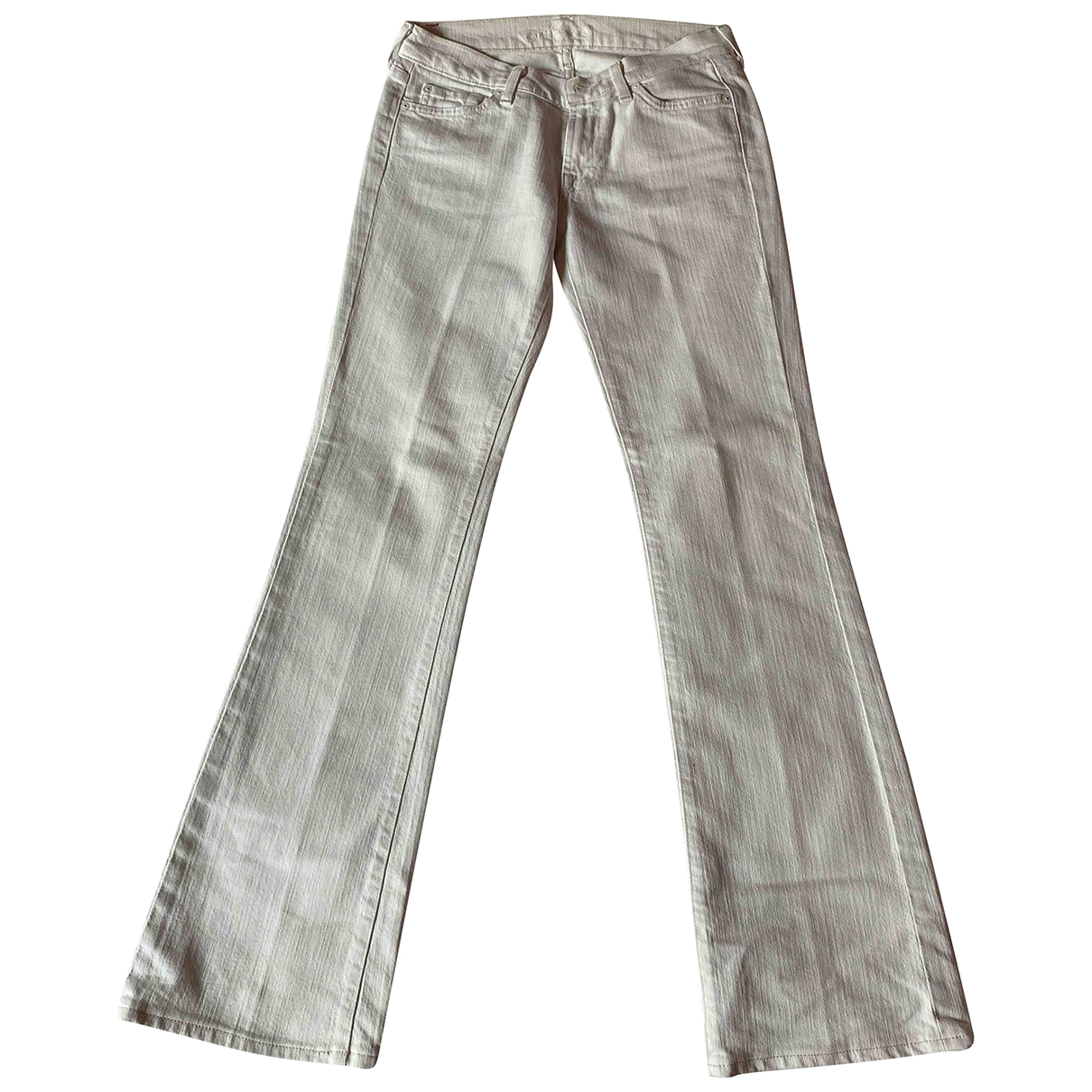 7 For All Mankind \N White Denim - Jeans Jeans for Women 27 US
