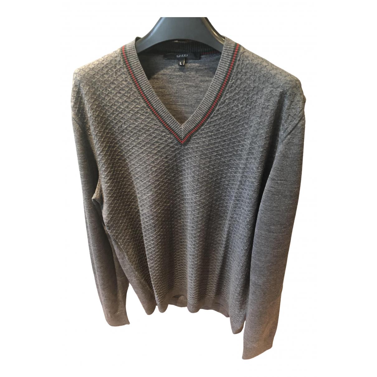 Gucci \N Grey Wool Knitwear & Sweatshirts for Men L International