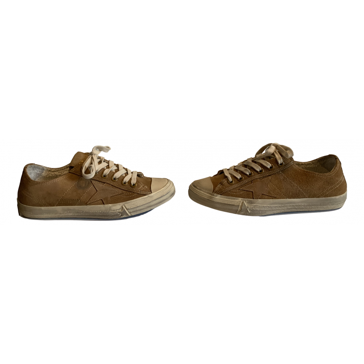 Golden Goose V-Star Brown Suede Trainers for Women 38 EU