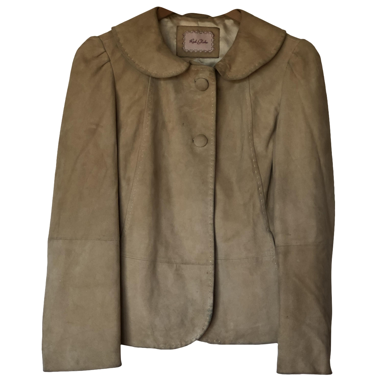 Non Sign?? / Unsigned \N Beige Leather Leather jacket for Women 36 FR