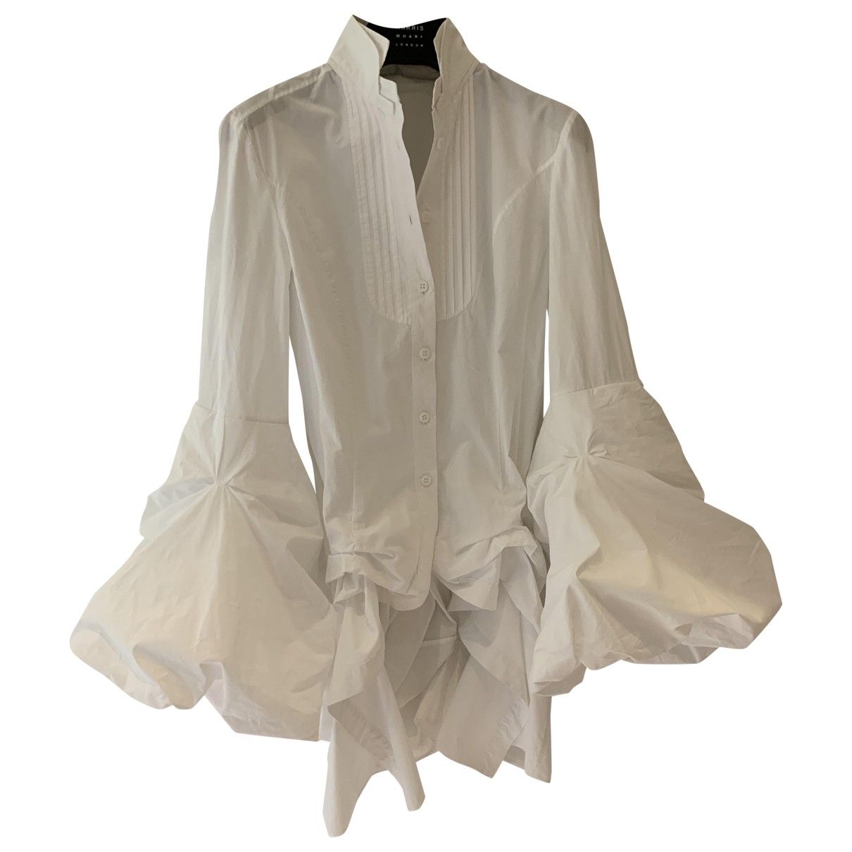 Non Signé / Unsigned \N White Cotton  top for Women XS International