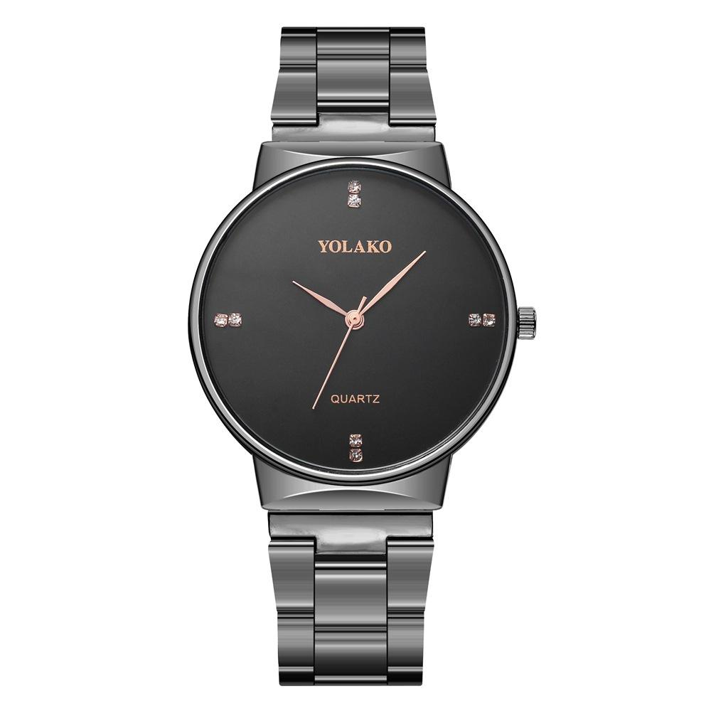Deffrun Crystal Scale Casual Style Full Steel Quartz Watch