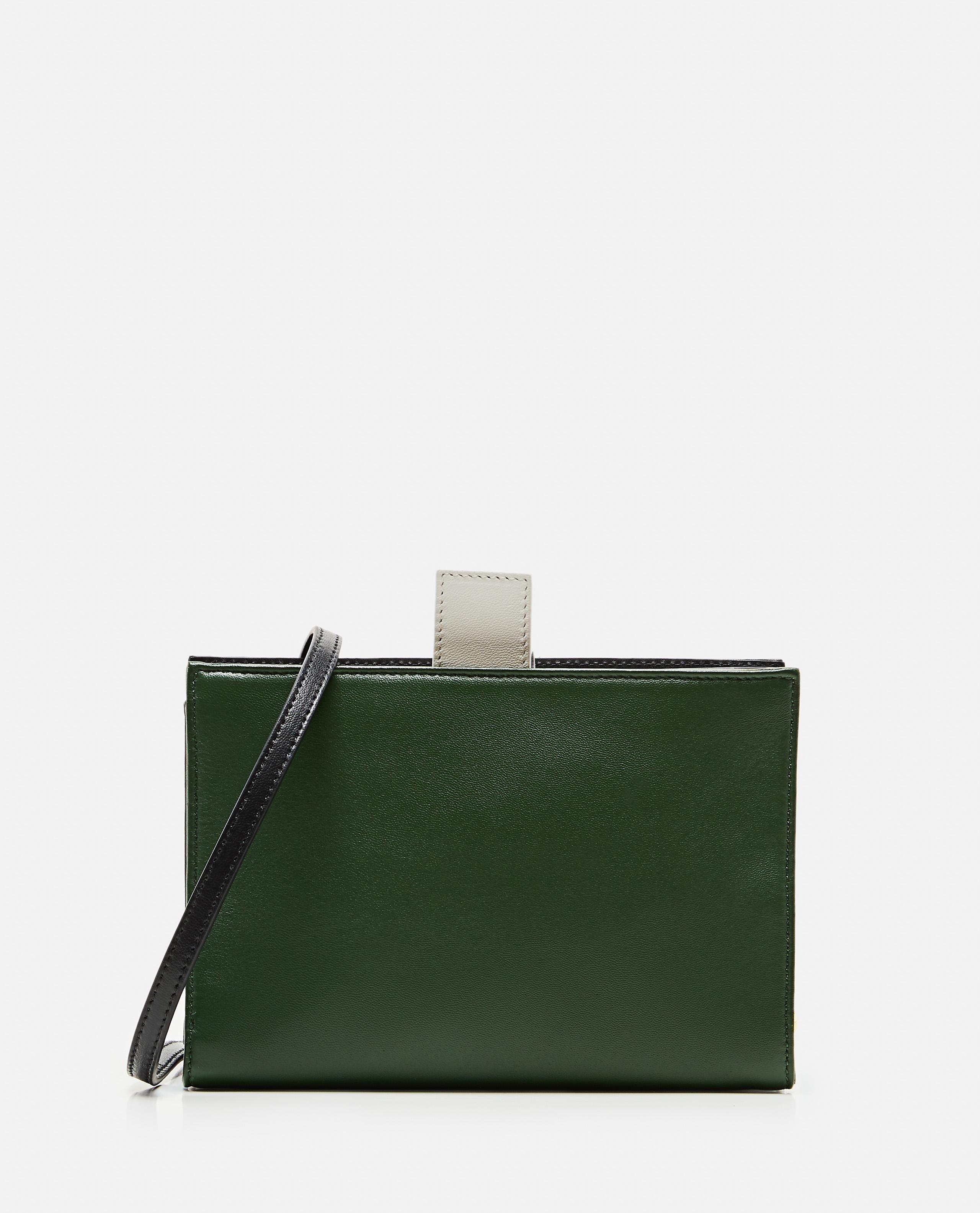 Two-tone color block shoulder bag