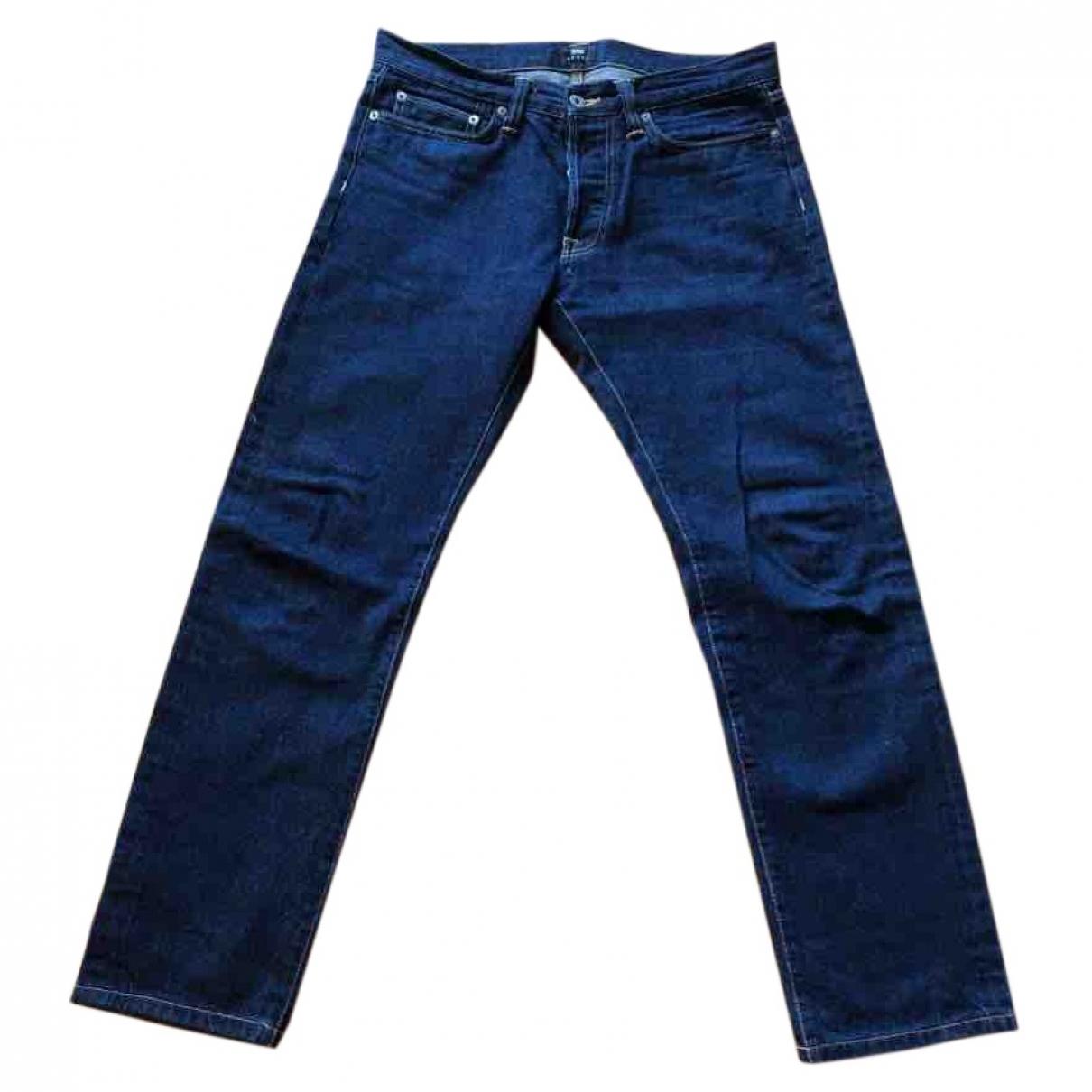 Edwin \N Blue Cotton Jeans for Men 32 US