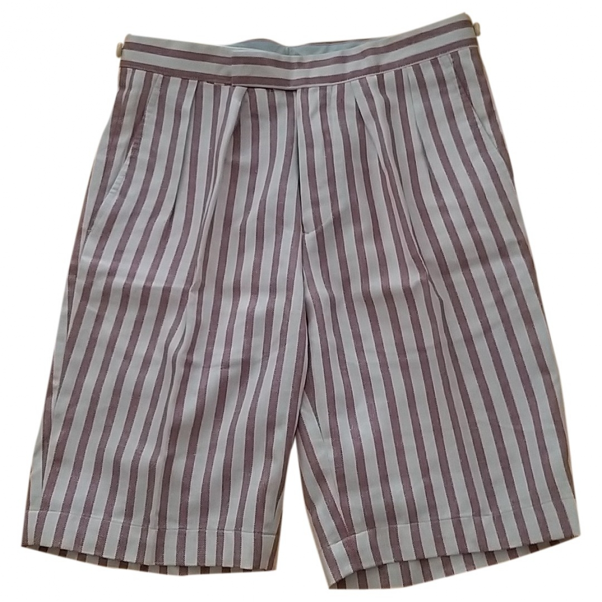 Etro \N Pink Linen Shorts for Men 46 IT