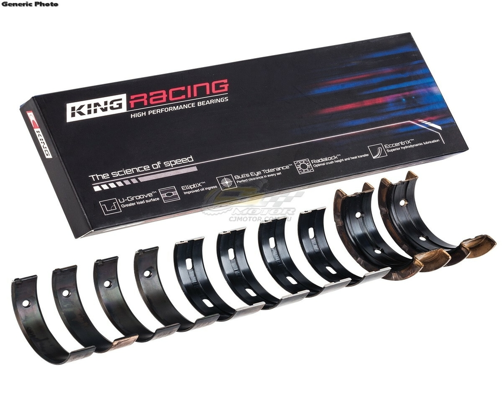 King Tri-Metal Performance Rod Bearing Set Nissan GT-R VR38DETT (Size STDX) 09-15