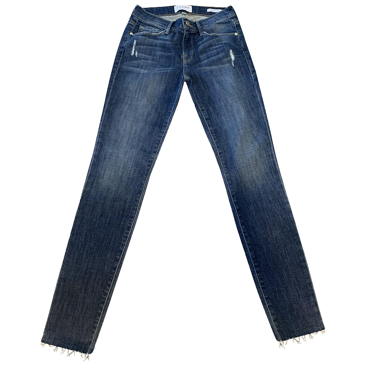 Frame Denim \N Blue Denim - Jeans Jeans for Women 26 US