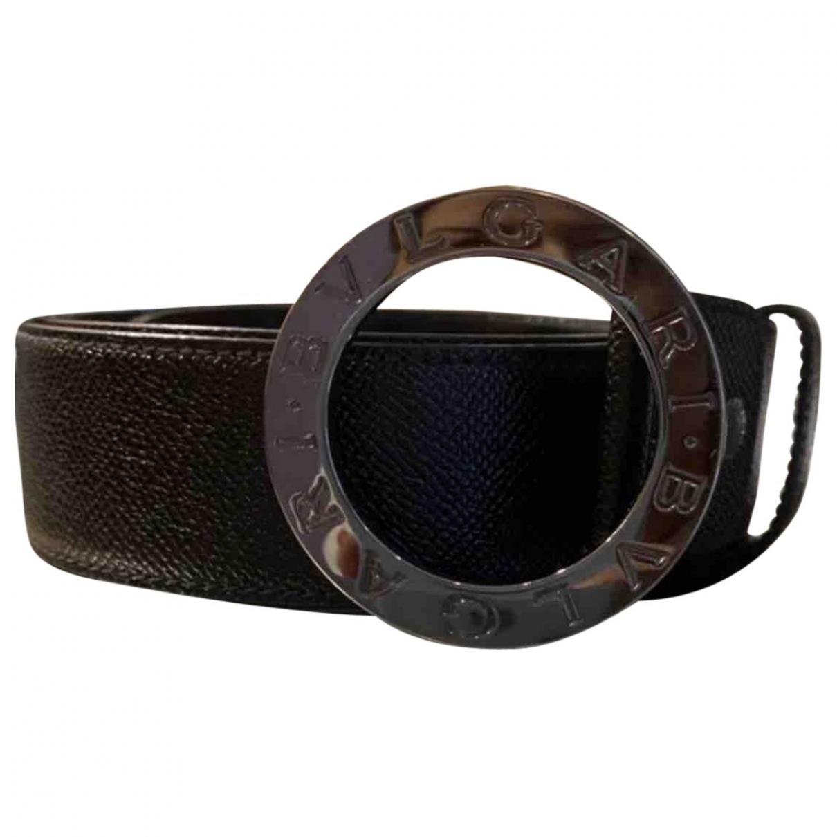 Bvlgari \N Black Leather belt for Women 95 cm