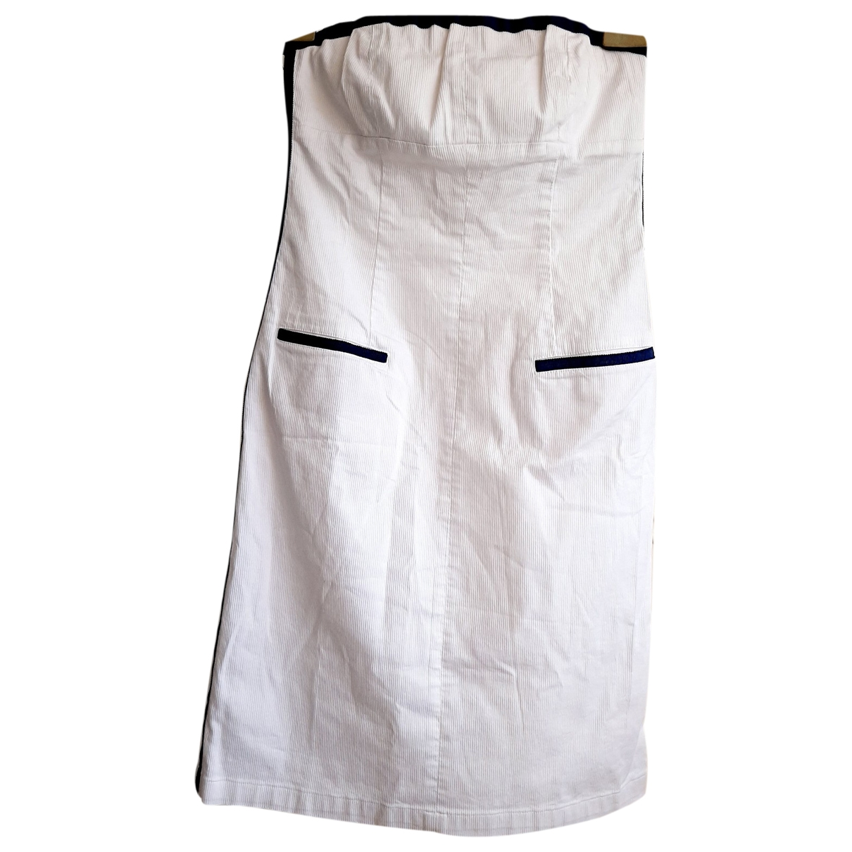 Red Valentino Garavani \N White Cotton - elasthane dress for Women 42 IT