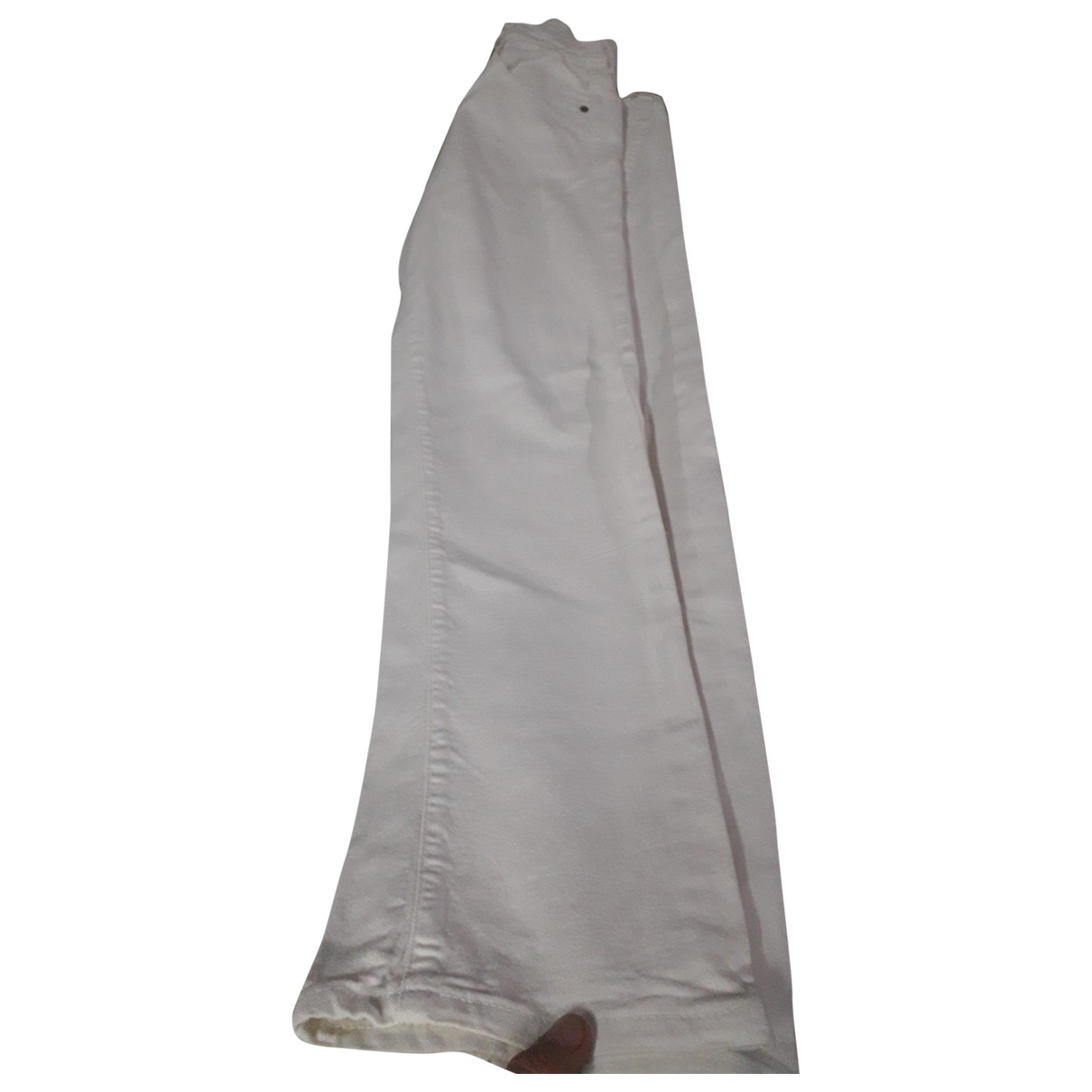 D&g \N White Cotton Trousers for Women 44 IT