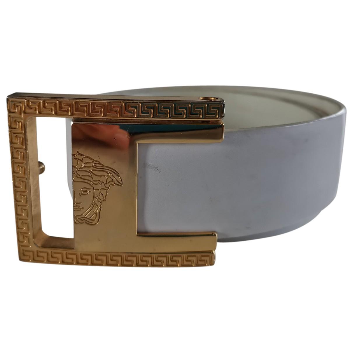 Gianni Versace \N White Leather belt for Women S International