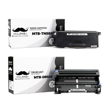 Compatible Brother MFC-8670DN Toner and Drum Cartridges Combo by Moustache