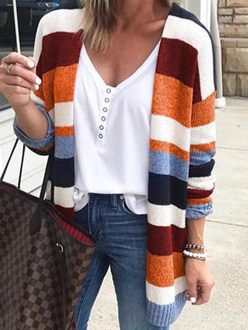 Ericdress Regular Regular Loose Long Sleeve Sweater