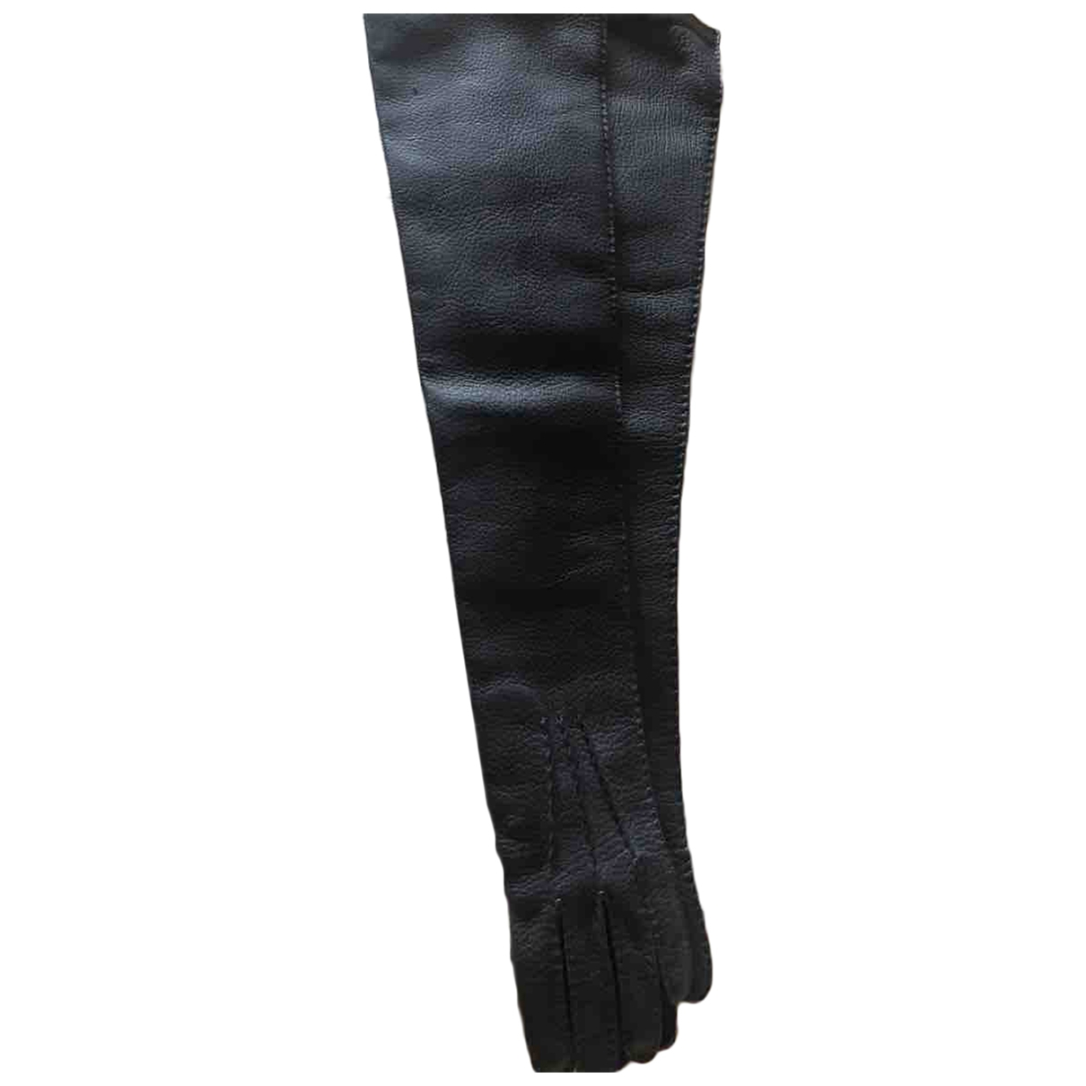 Marni \N Anthracite Leather Gloves for Women 7 Inches