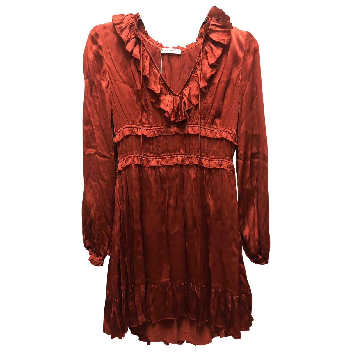 Ulla Johnson \N Red Silk dress for Women 0 0-5