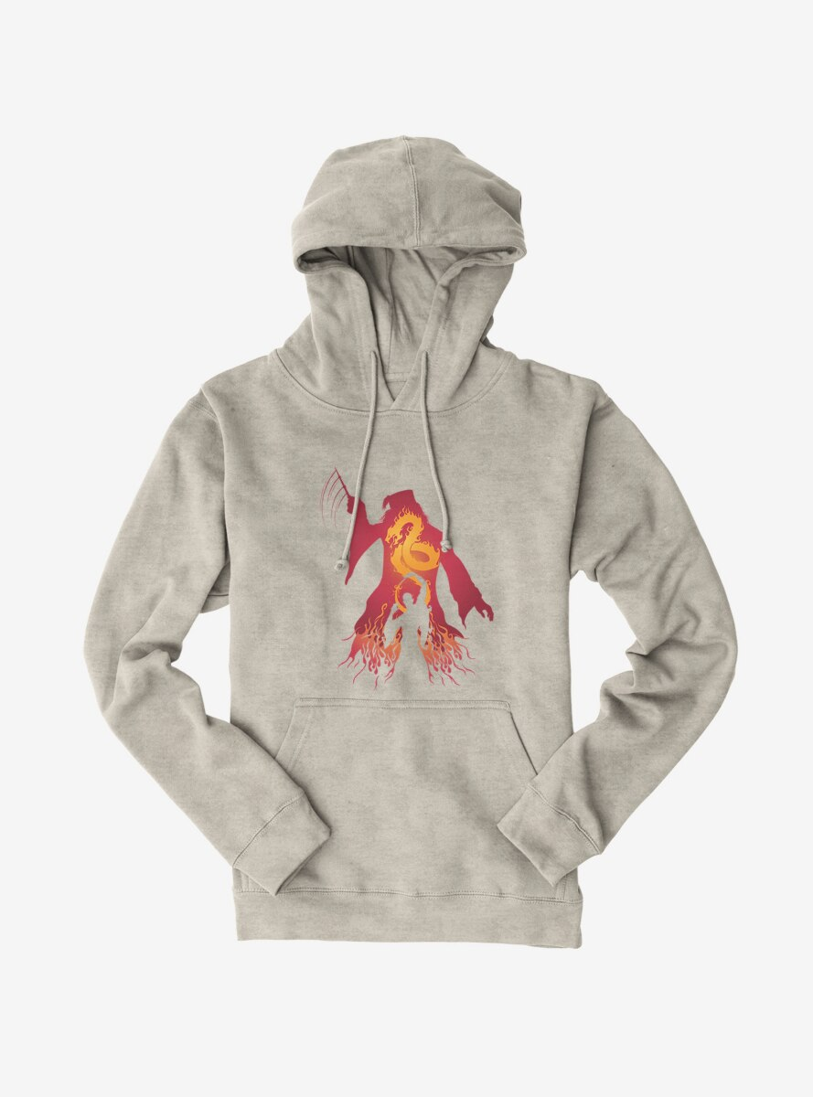 Harry Potter Dumbledore Fire Silhouette Hoodie