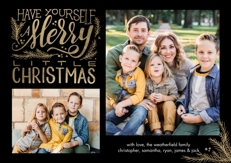 Christmas Photo Cards 5x7 Cards, Standard Cardstock 85lb, Card & Stationery -Christmas Festive Merry by Tumbalina