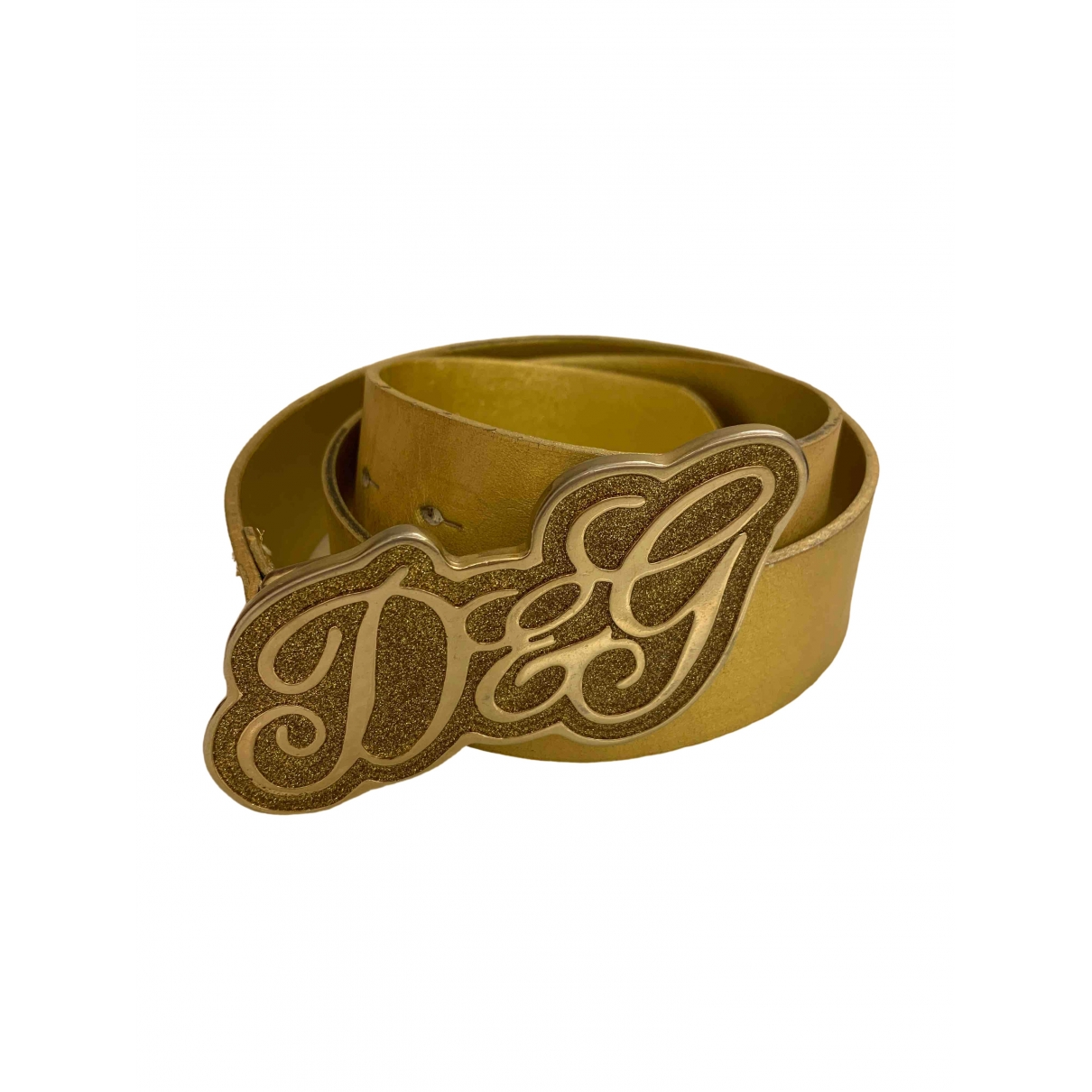 D&g \N Gold Leather belt for Women 85 cm