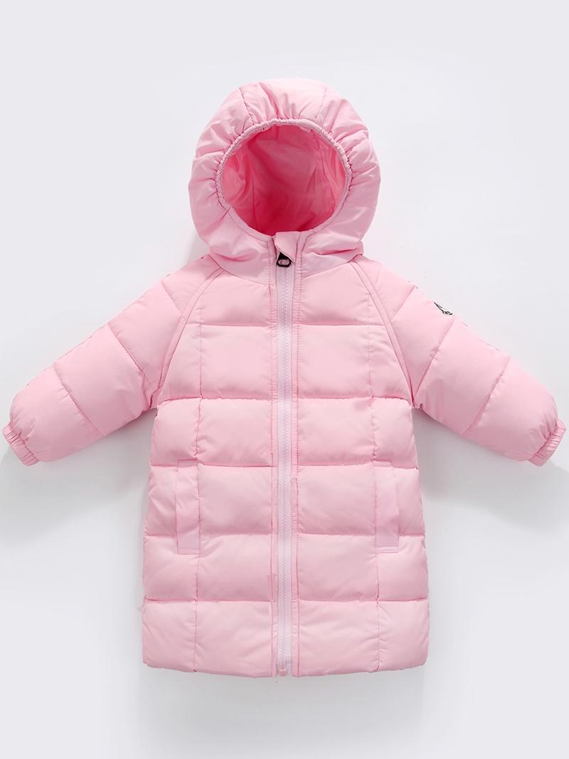 Ericdress Thick Plain Zipper Baby Girls & Boys Down Coat