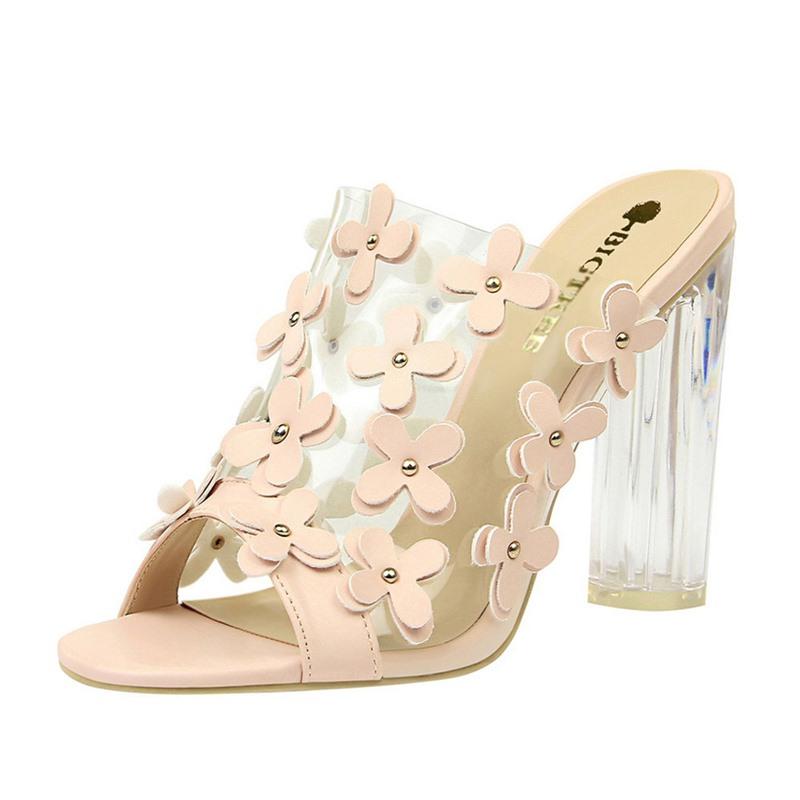 Ericdress Slip-On Chunky Heel Flip Flop Rubber Women's Slippers