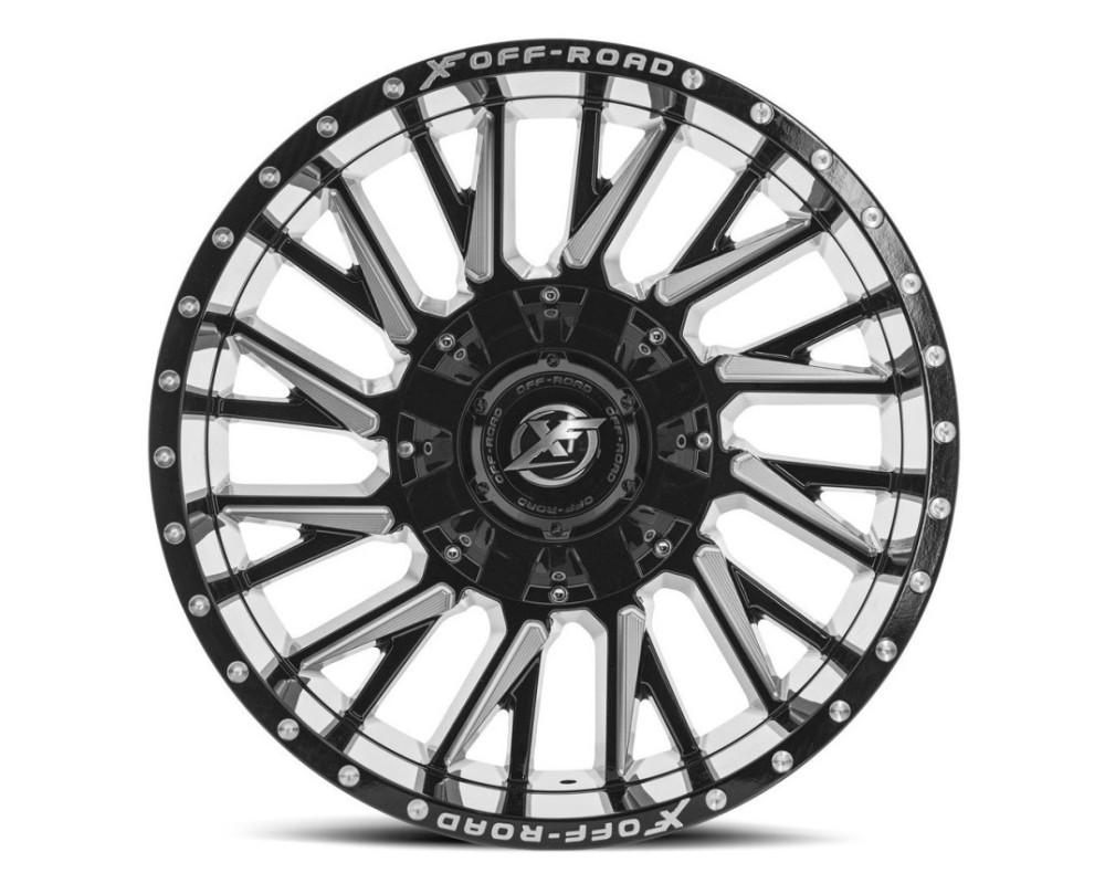 XF Off-Road XF-226 Wheel 24x14 6x135|6x139.7 -76mm Gloss Black Milled
