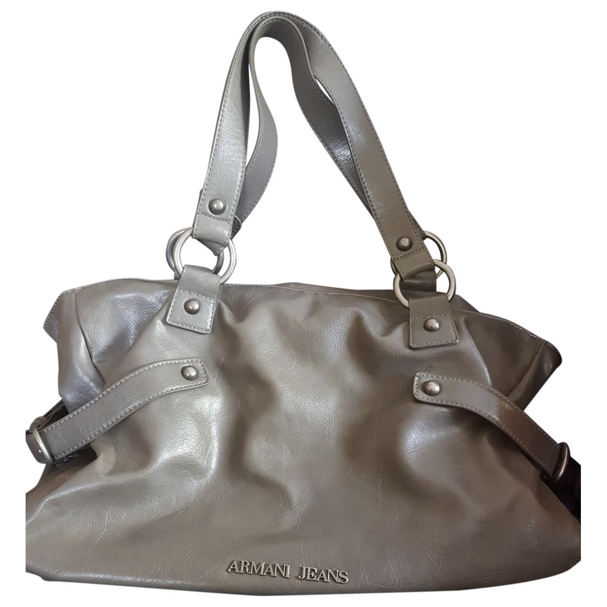 Armani Jeans \N Grey Leather handbag for Women \N