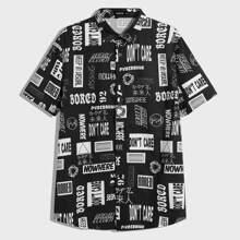 Men Allover Print Shirt