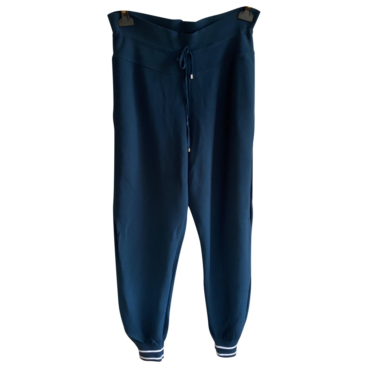 Chanel \N Navy Cotton Trousers for Women 48 FR