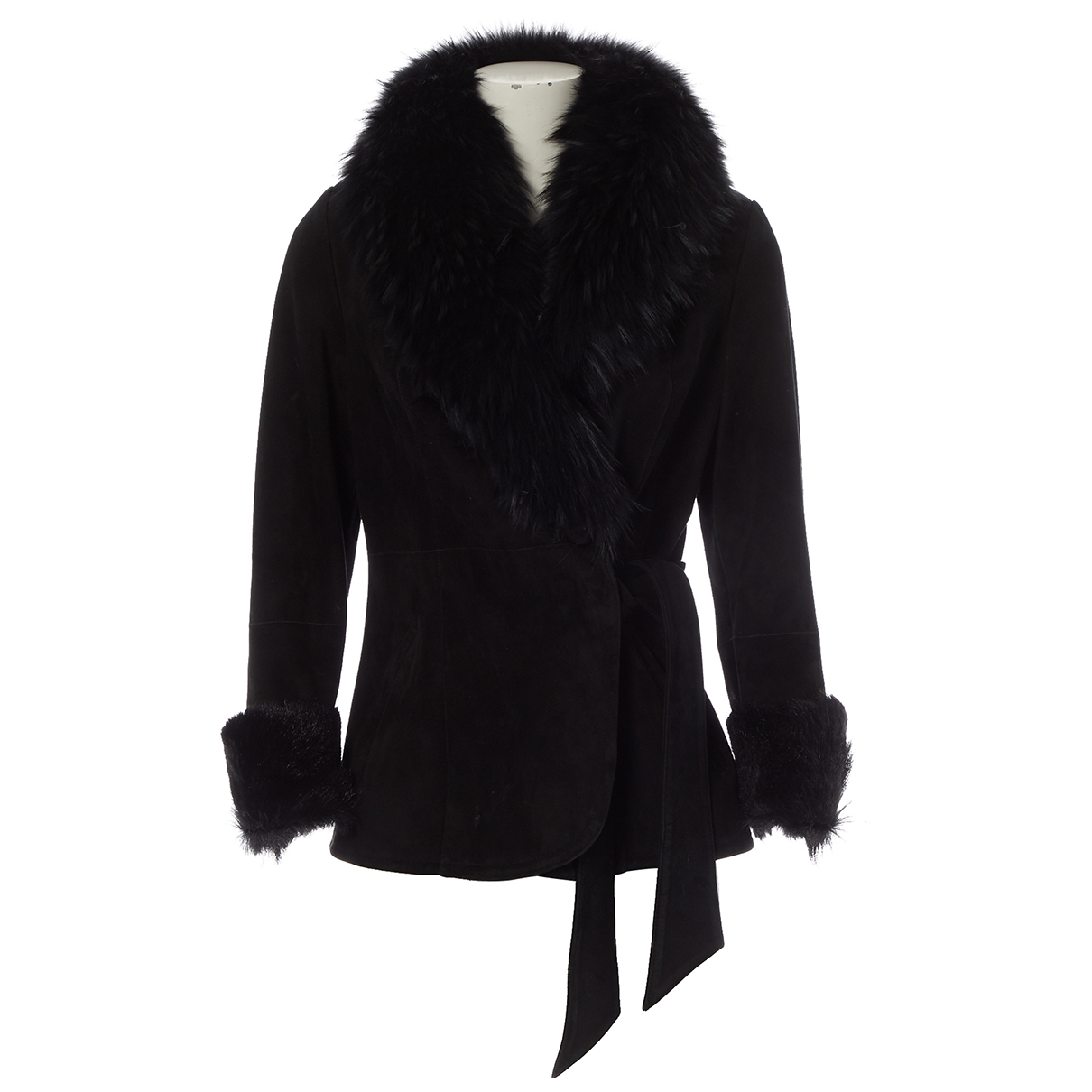 Sprung Frères \N Black Shearling coat for Women 40 FR