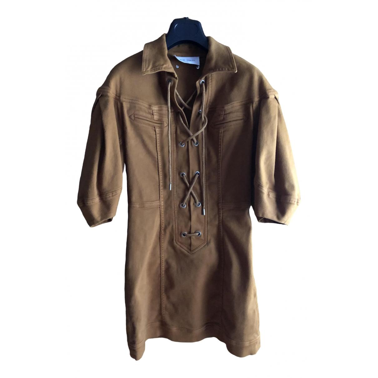 Alberta Ferretti \N Brown Denim - Jeans dress for Women 40 IT