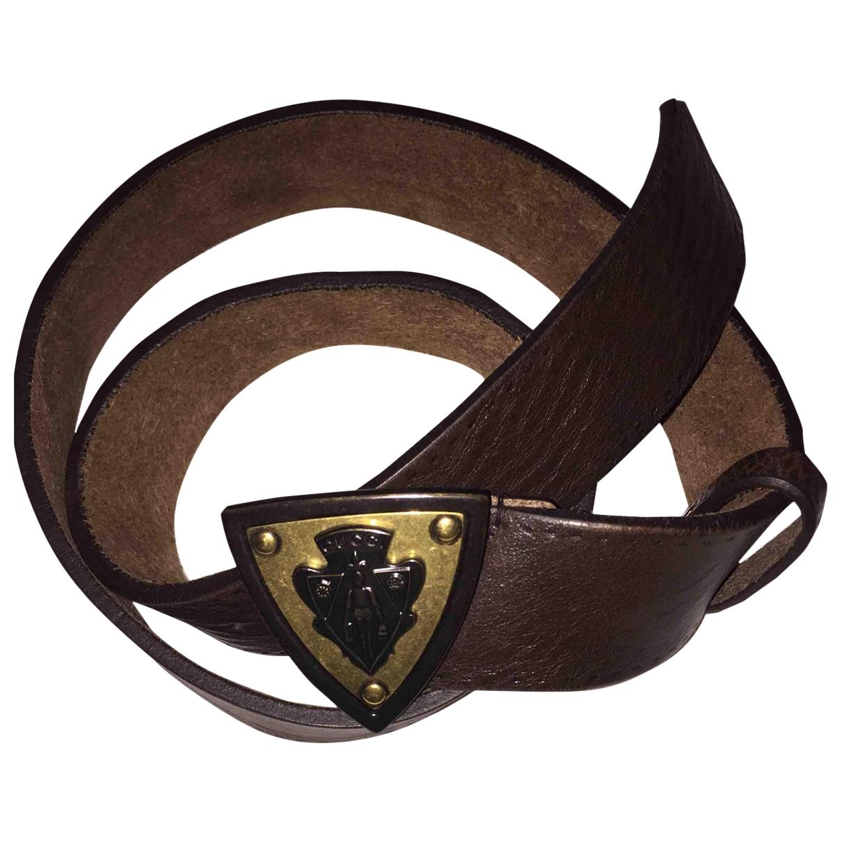Gucci \N Brown Leather belt for Men 85 cm