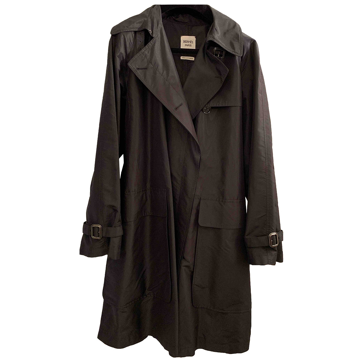 Hermès \N Black Trench coat for Women 38 FR