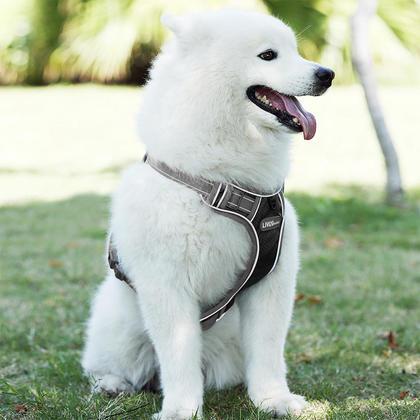 Dog Harness No-Pull Pet Harness Adjustable Outdoor Pet Vest 3M Reflective Oxford Material Vest