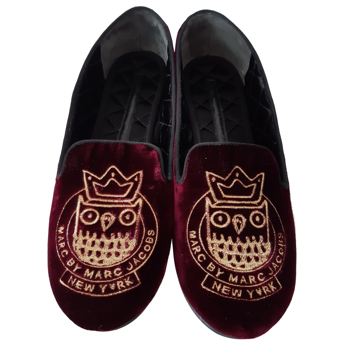 Marc By Marc Jacobs \N Burgundy Velvet Flats for Women 37.5 EU