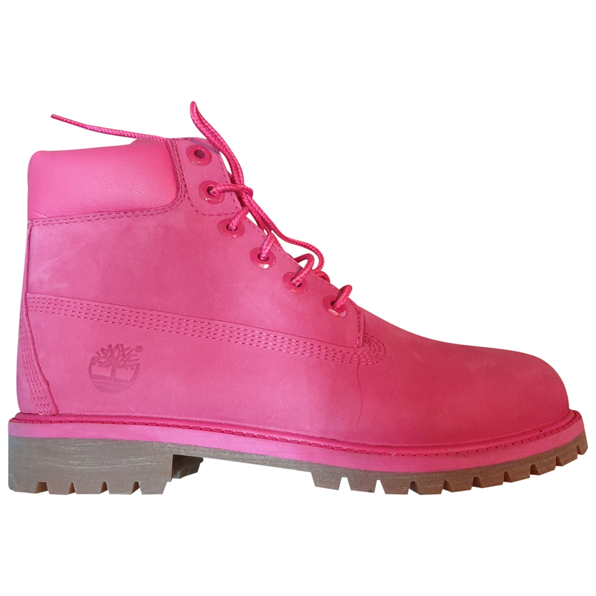 Timberland \N Pink Suede Ankle boots for Women 37.5 EU