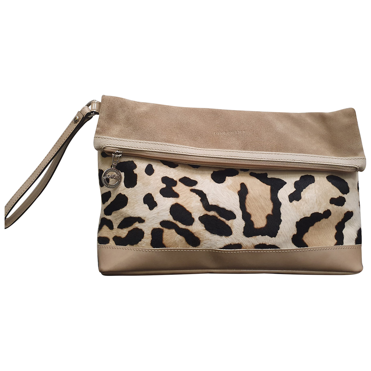 Longchamp \N Beige Leather Clutch bag for Women \N