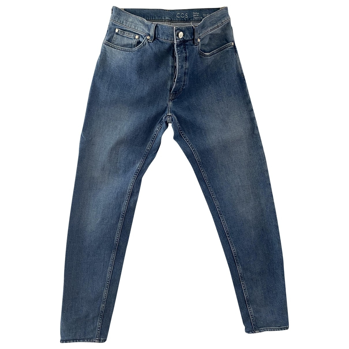 Cos \N Blue Cotton - elasthane Jeans for Men 32 US