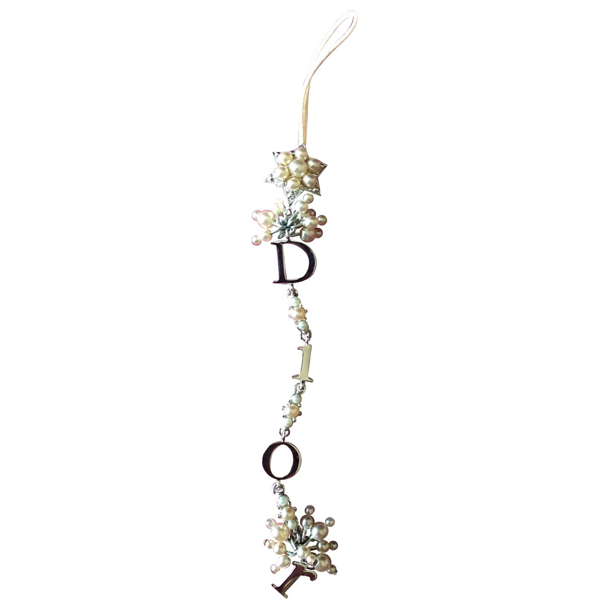 Dior \N Silver Crystal Phone charms for Women \N