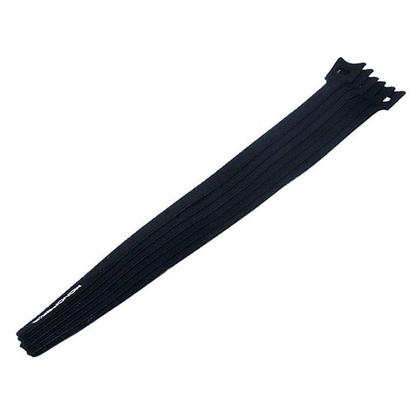 Monoprice® attaches de câble de fixation à boucles et à crochets, 13 pouces, 100pcs / paquet - noir