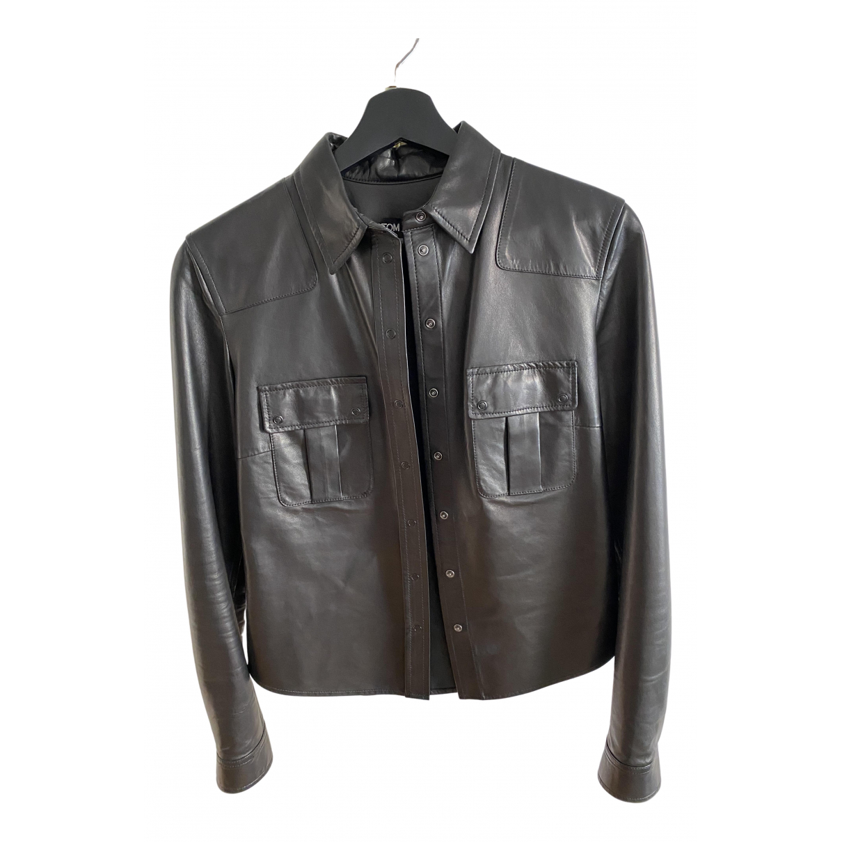 Tom Ford \N Black Leather  top for Women 40 IT