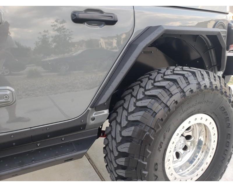 Hammerhead Armor 600-56-0827 Jeep JL Rear Fender Flares For 18-Pres Wrangler JL Black Steel Steel Ravager Series